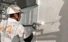 愛知県西三河東三河西尾市外壁塗装工事ベランダ防水工事アステック超低汚染遮熱シリコン塗装カラーボンドスレートグレーアクセント壁チャコールメンテナンス外壁施工手順下塗り