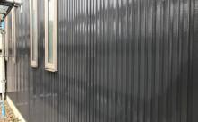 愛知県西三河東三河西尾市碧南市外壁塗装ガルバリウム鋼板グレーウッドデッキ解体屋上防水工事雨漏りメンテナンス施工例外壁