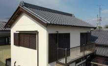 愛知県西三河東三河西尾市木造外壁塗装アステック超低汚染無機フッ素塗装オレンジホワイト傷み色褪せひび割れ汚れメンテナンス施工後外観