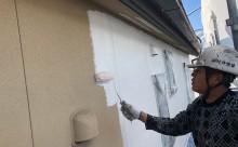 愛知県西三河東三河西尾市外壁塗装工事網戸張替え工事アステック超低汚染無機フッ素塗装カラーボンドベイジュ汚れ傷み色褪せメンテナンス外壁施工手順下塗り