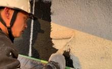 愛知県西三河東三河西尾市外壁塗装工事木部擁壁塗装工事低汚染高耐久シリコン塗装木部黒ずみ汚れ経年劣化メンテナンス外壁塗装施工手順下塗り