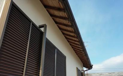 愛知県西三河東三河西尾市木造外壁塗装アステック超低汚染無機フッ素塗装オレンジホワイト傷み色褪せひび割れ汚れメンテナンス軒天木部施工手順完成
