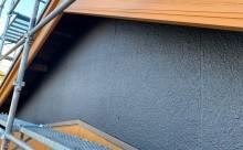 愛知県西三河東三河西尾市外壁塗装工事木部擁壁塗装工事低汚染高耐久シリコン塗装木部黒ずみ汚れ経年劣化メンテナンス外壁塗装施工手順完成