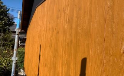 愛知県西三河東三河西尾市外壁塗装工事木部擁壁塗装工事低汚染高耐久シリコン塗装木部黒ずみ汚れ経年劣化メンテナンス外壁木部塗装施工手順完成