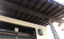 愛知県西三河東三河西尾市木造外壁塗装アステック超低汚染無機フッ素塗装オレンジホワイト傷み色褪せひび割れ汚れメンテナンス施工後玄関木部