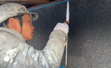 愛知県西三河東三河西尾市外壁塗装工事木部擁壁塗装工事低汚染高耐久シリコン塗装木部黒ずみ汚れ経年劣化メンテナンス外壁塗装施工手順シーリング