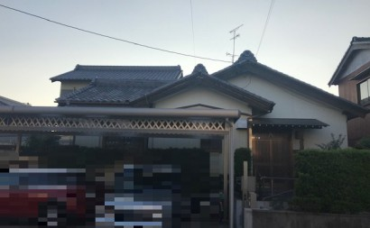 愛知県西三河東三河西尾市木造外壁塗装アステック超低汚染無機フッ素塗装オレンジホワイト傷み色褪せひび割れ汚れメンテナンス施工前