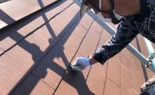 岡崎市カラーベスト屋根塗装縁切り