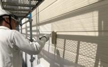 岡崎市外壁超低汚染塗料中塗り