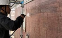 西尾市外壁シリコン塗装汚れ