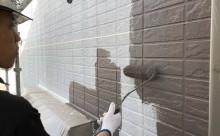 西尾市外壁遮熱シリコン中塗り