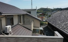 西尾市ブラウン屋根塗装