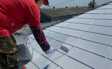 西尾市屋根塗装下地2回