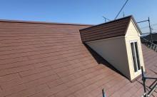 岡崎市カラーベスト塗装ブラウン完成
