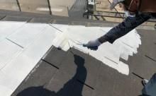 西尾市屋根塗装下地調整