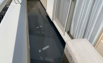 岡崎市ベランダ防水ウレタントップ