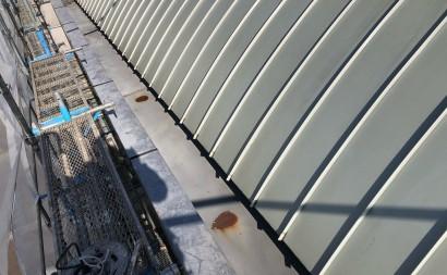 西尾市店舗屋根フッソ塗装パラペット