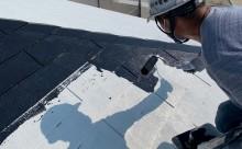 西尾市屋根塗装ブラック