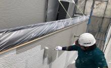 安城市外壁アステック塗装バーチグレー