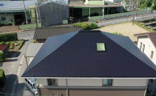 西尾市屋根遮熱塗装ブラック