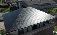 西尾市屋根塗装艶有りブラック
