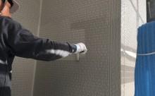 安城市外壁遮熱シリコン塗装グレー