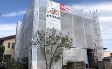西尾市外壁屋根遮熱塗装自社施工足場