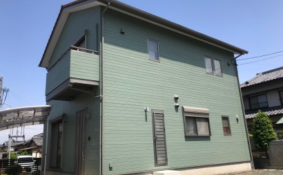 西尾市外壁遮熱塗装グリーン系