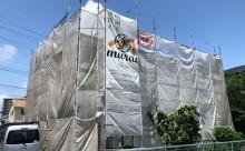 西尾市外壁塗装足場施工