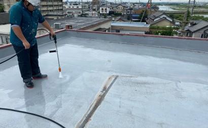 西尾市、屋上、通気緩衝工法