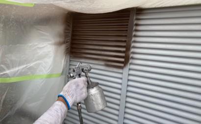 西尾市付帯部フッソ塗装、トタン壁