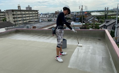 西尾市、屋上、ウレタン防水
