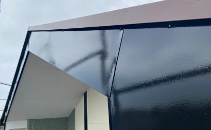 西尾市、付帯部、4Fフッ素塗装、艶有り