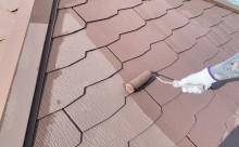 西尾市、屋根遮熱塗装、カラーベスト