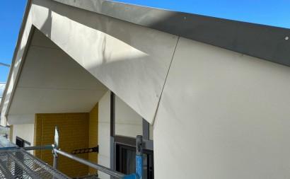 西尾市、ALC外壁、付帯部フッ素塗装