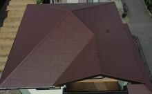 西尾市、屋根遮熱塗装、クールブラウン