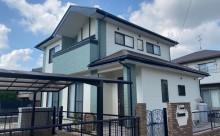 西尾市、屋根高反射遮熱塗装、ブラウン