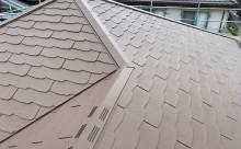 西尾市、屋根遮熱塗装、ブラウン