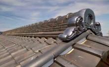 西尾市、瓦屋根再建工事