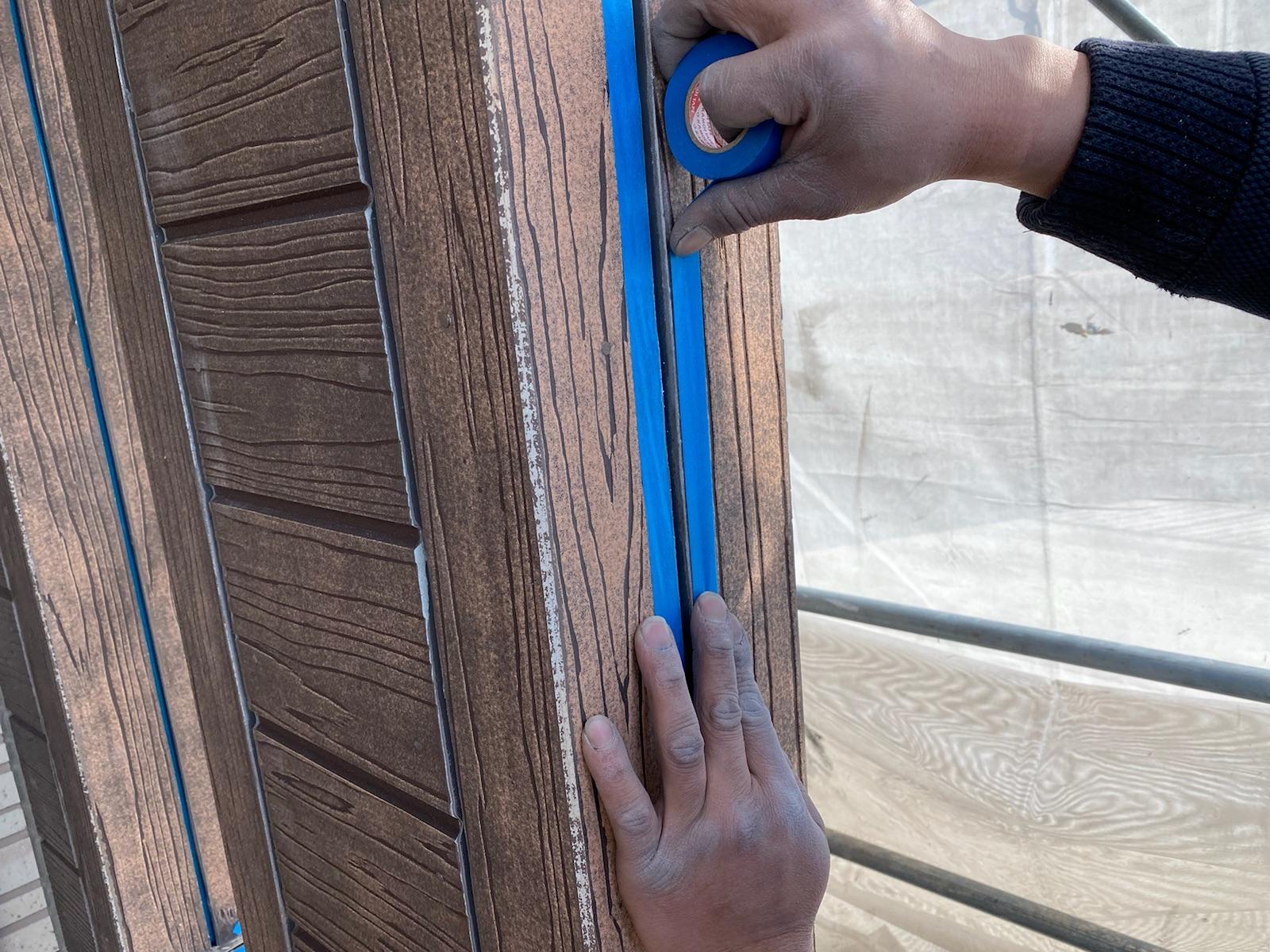 西尾市、西三河、外壁塗装、塗り替え、色決め、アステック、ASTEC、3分艶、マウンテンブルー、テラコッタ、2トーン、サイディング、超低汚染シリコン塗装