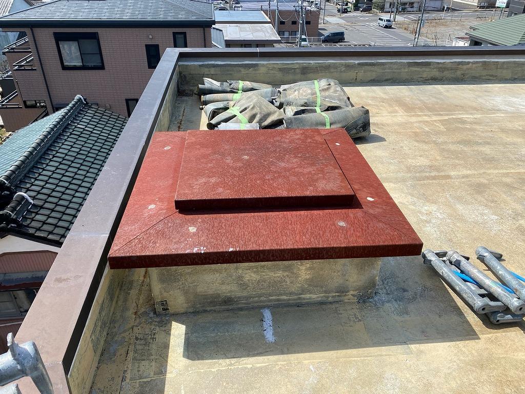 西三河、屋上、ウレタン防水工事、通気緩衝工法