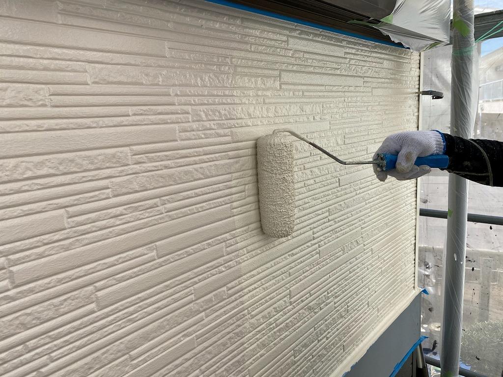西三河 外壁塗装上塗り