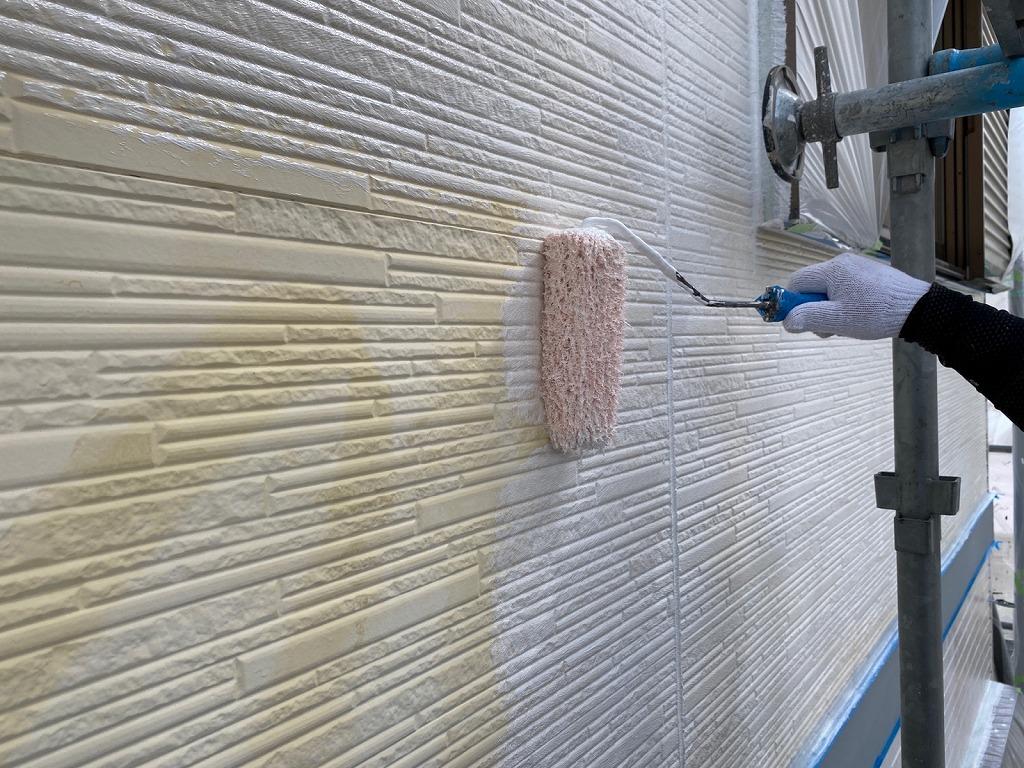 西三河 外壁塗装下塗り
