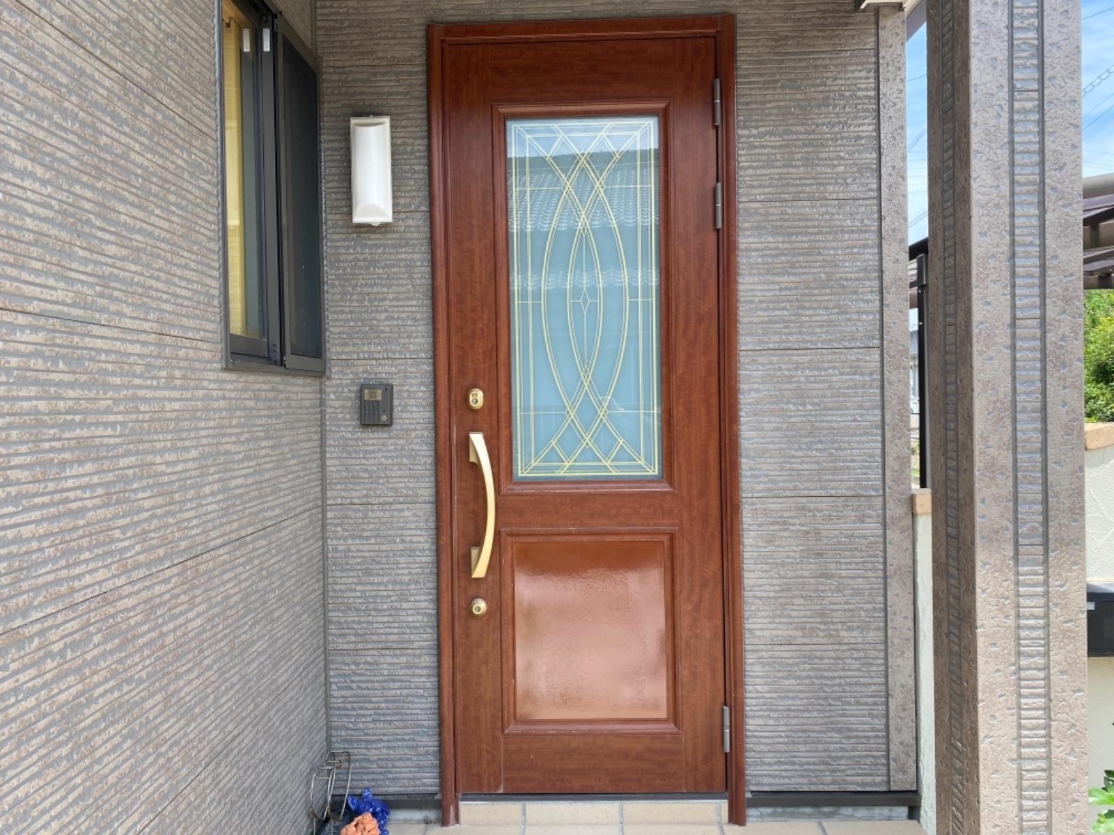 玄関扉、完成