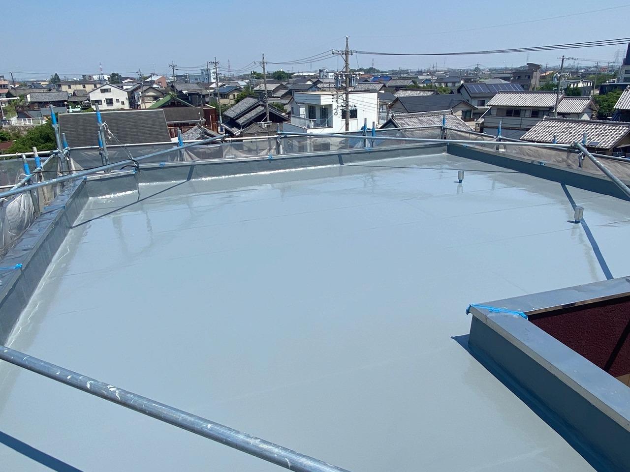 防水通気緩衝工法完成